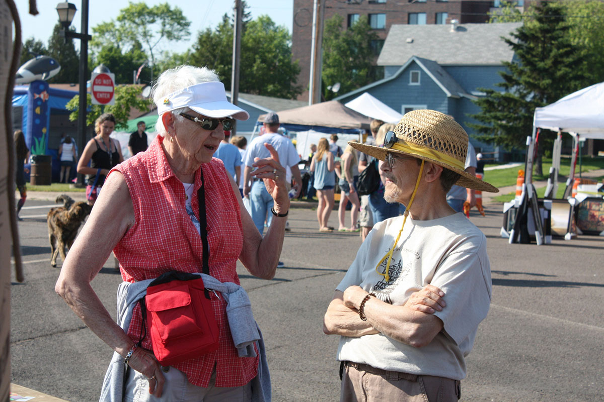 Fran Speaking with Radio Supporters at Heritage Days