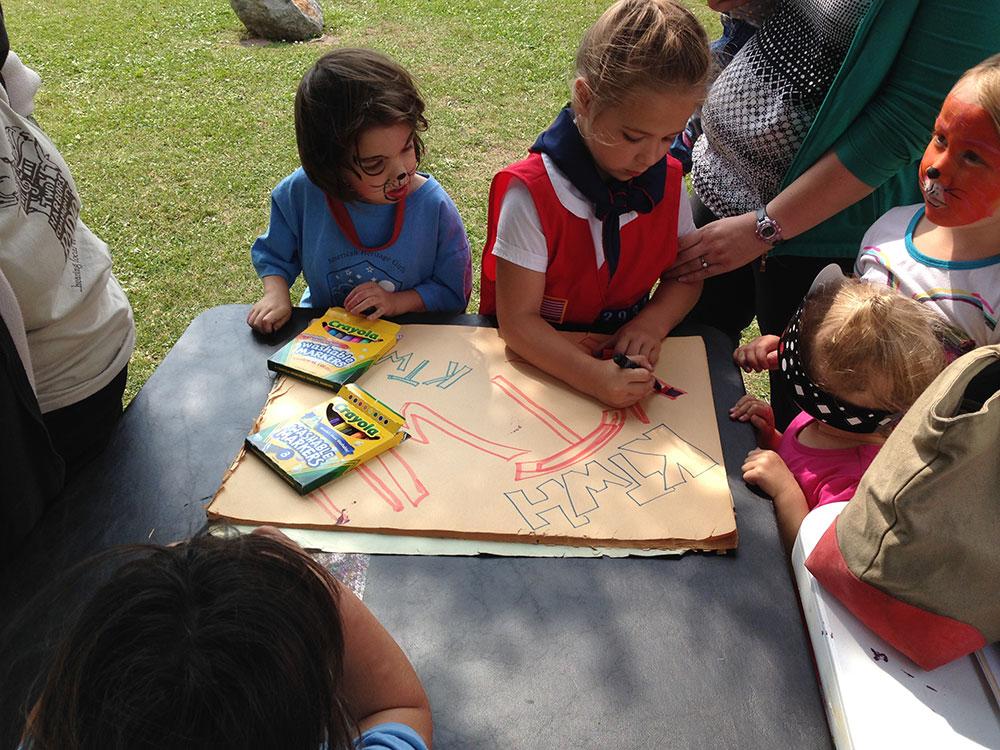 Kids THCR tent Chalk Fest