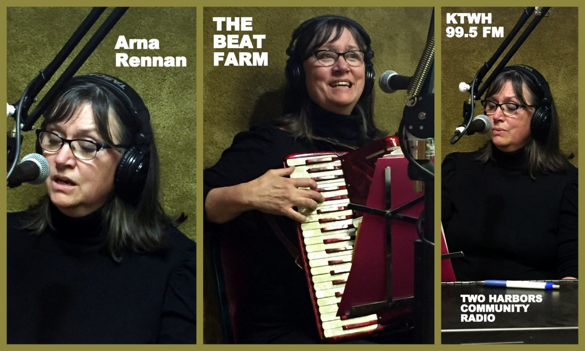 Arna Rennan of our Nordic Roots show, performing on Dave's Beat Farm