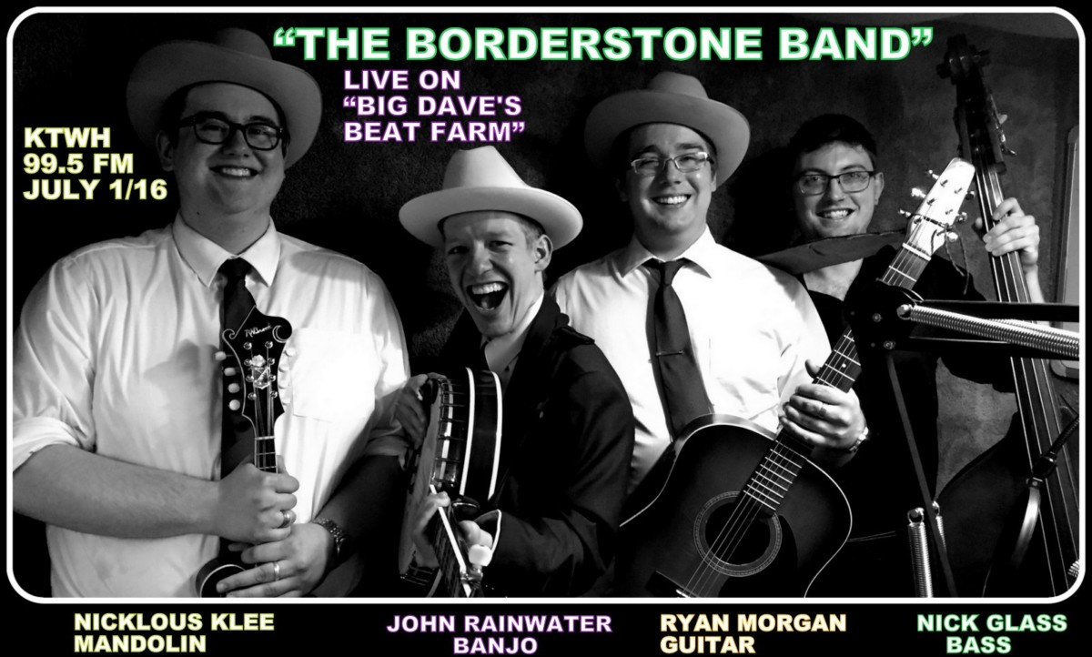 Borderstone Band graced the KTWH studios on Dave's Beat Farm in early July! Fridays at 7pm, join the studio audience!