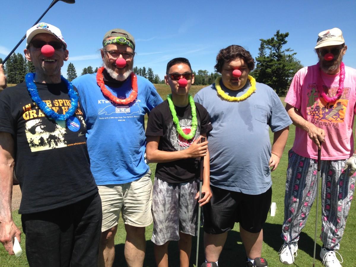 KTWH team at our 2016 golf scramble: John I, Leo B, support member Dale P, David L and Bruce-the-Moose E