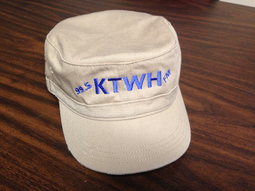 All cotton KTWH classy cap with our call letters - premium for $75 donation