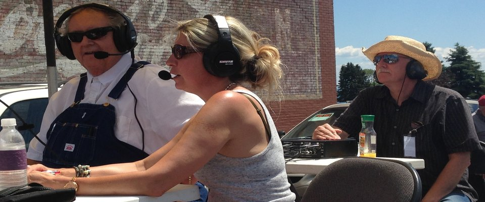 Heritage Days Parade broadcast crew - Big Dave, Jackie and Engineer Bruce